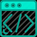 code, html, page, script, web icon