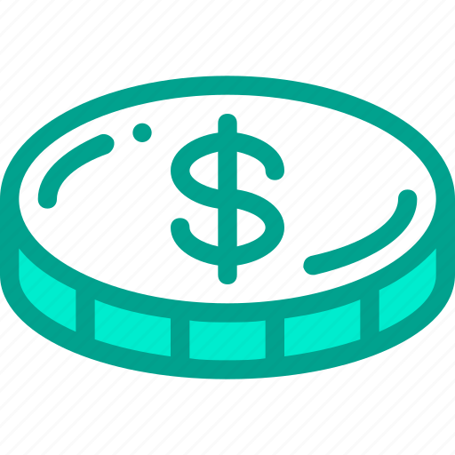business, coin, dollar, finance, money icon