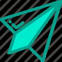 message, paper, plane, send icon