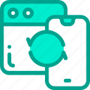 mobile, phone, sync, web icon
