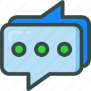 chat, comment, seo, social icon