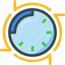 arrow, clock, time, timer icon
