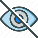 eye, invisible, retina, visual icon