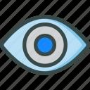 eye, retina, seo, visible, visual icon