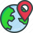globe, location, navigation, seo icon