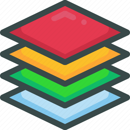 arrange, layer, page, stack icon