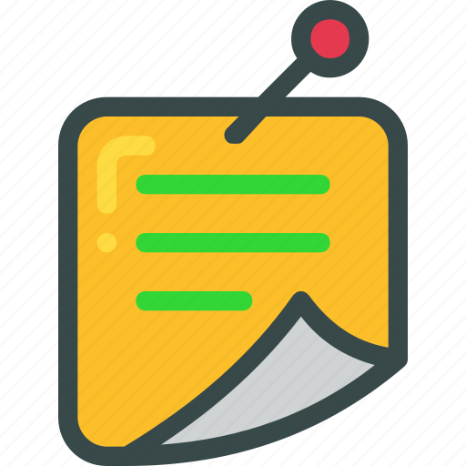 list, note, pin icon