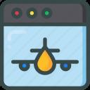 landing, page, plane icon