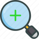 magnifier, research, search, seo, zoom icon