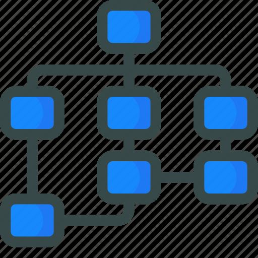 flowchart, seo, sitemap icon