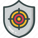 protection, security, shield, target