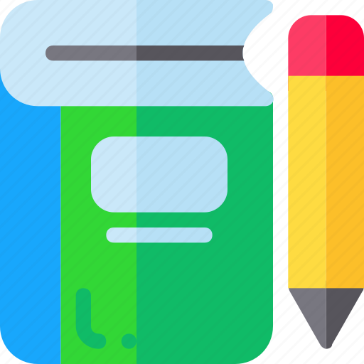 book, education, pencil, study icon