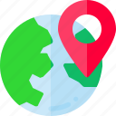 globe, location, navigation, seo icon