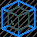 box, cube, dimension, shape