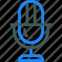 audio, media, microphone, record icon
