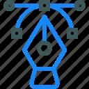 curve, design, draw, line, pen icon