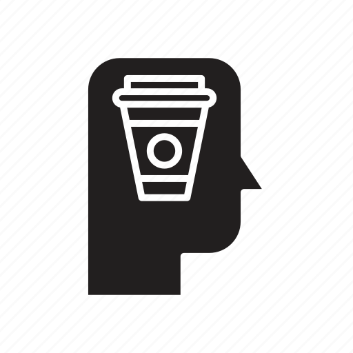 coffee, head, mind, thinking icon