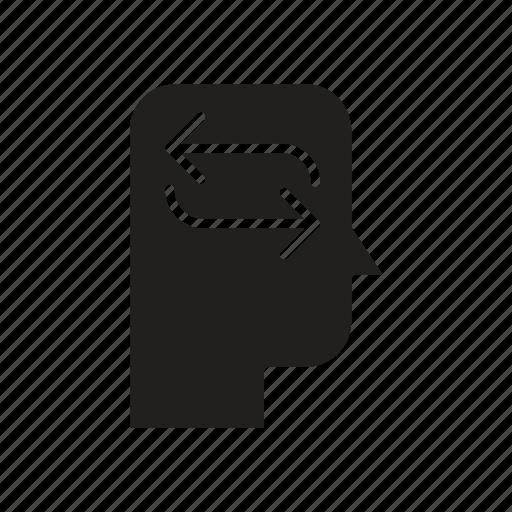 Head, mind, refresh, thinking icon - Download on Iconfinder