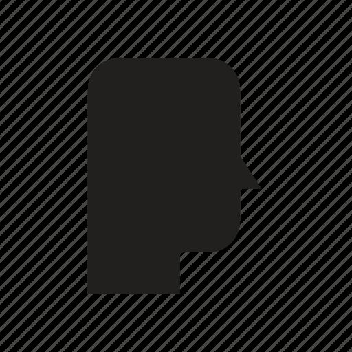 empty, head, mind, thinking icon