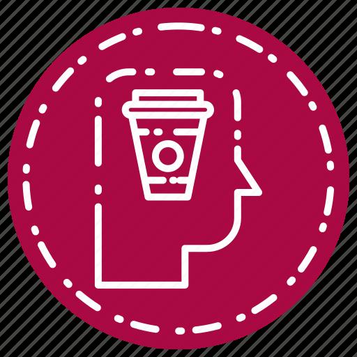 coffee, head, thinking icon