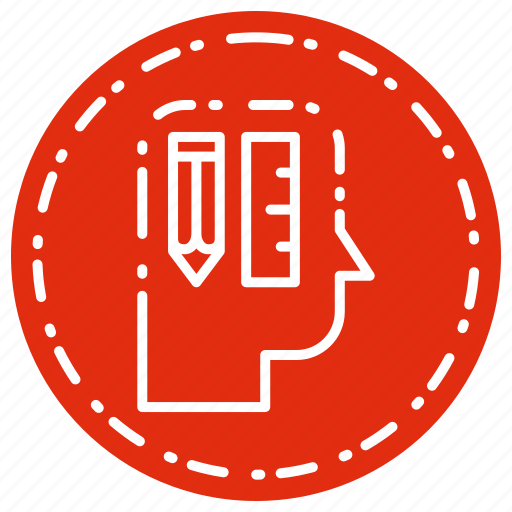 creative, designer, head, thinking, tools icon