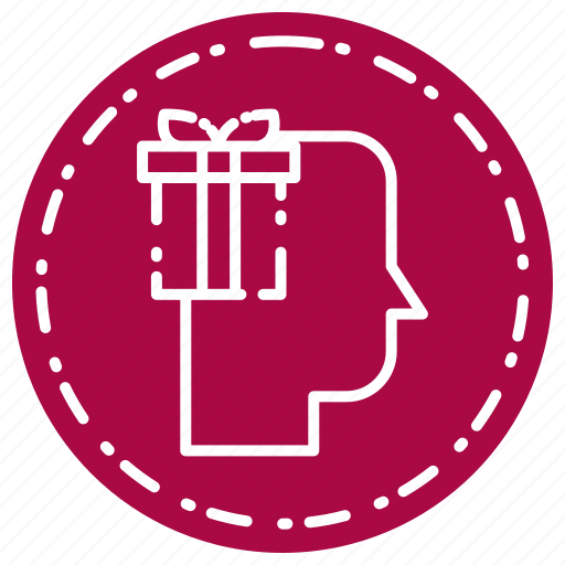 gift, head, thinking icon