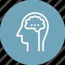 brain, head, human, idea, intelligence, mind, thinking