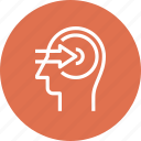 arrow, head, human, knowledge, mind, perception, thinking