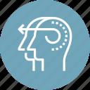 brain, head, human, initiative, intelligence, mind, thinking