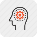brainstorming, head, idea, mind, process, solution, thinking icon