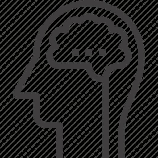 brain, head, human, idea, intelligence, mind, thinking icon