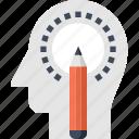 art, design, head, human, imagination, mind, thinking icon
