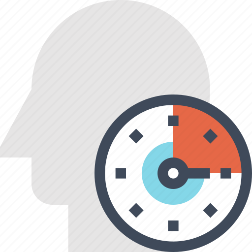 Clock, head, human, management, mind, thinking, time icon - Download on Iconfinder