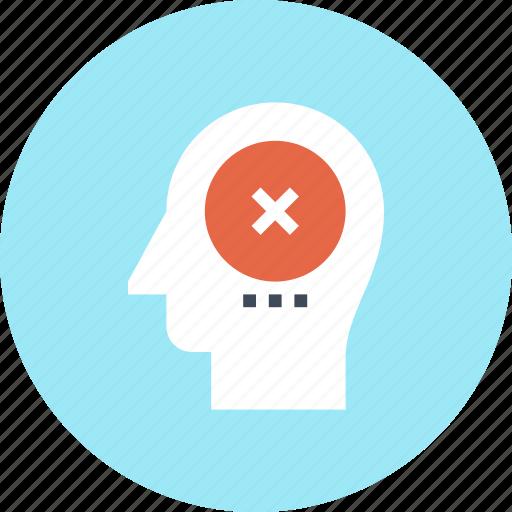 Brain, failure, head, human, mark, mind, thinking icon - Download on Iconfinder