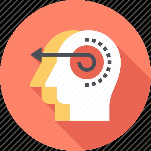 brain, head, human, initiative, intelligence, mind, thinking icon