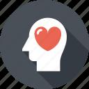 emotions, feeling, head, heart, human, love, mind
