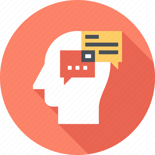 Communication, conversation, dialogue, head, human, mind, thinking icon - Download on Iconfinder