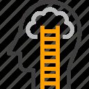 cloud, dream, head, human, imagination, mind, thinking icon