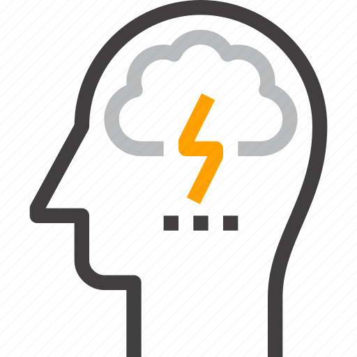 brain, brainstorm, head, human, idea, mind, think icon