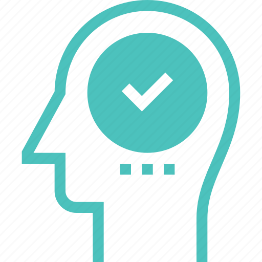 brain, head, human, mark, mind, success, thinking icon