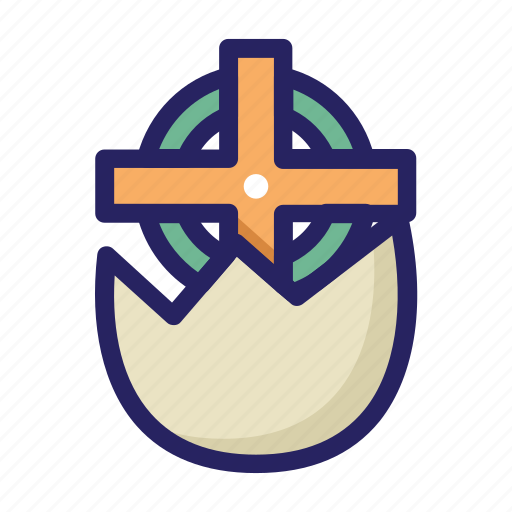 celebration day, christianity, cross egg, cross symbol, easter, holiday, spring icon