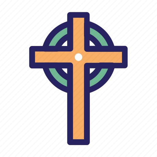 celebration day, christianity, cross, cross symbol, easter, holiday, spring icon