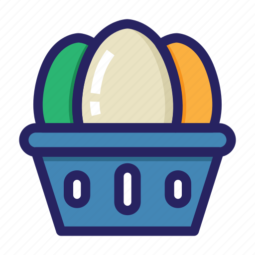 celebration day, christianity, easter, eggs, eggs basket, holiday, spring icon