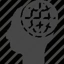 brain, creative, globe, thinking, thoughts icon