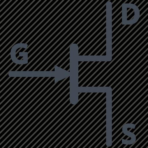 Circuit, diagram, electric, electronic, jfet transistor, n ...