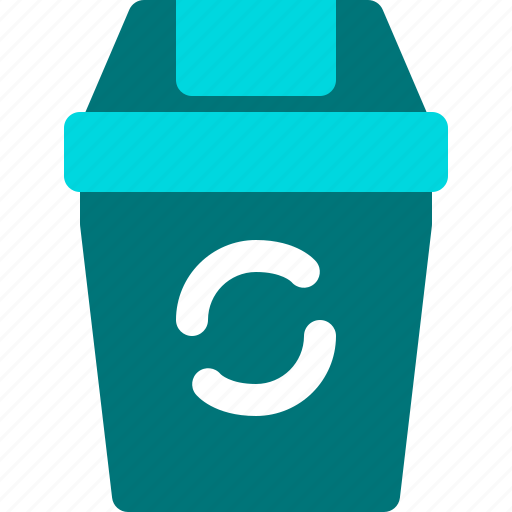 bin, dust, garbage, recycle, trash icon
