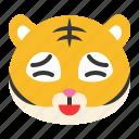 anguished, animal, emoji, expression, tiger, wild