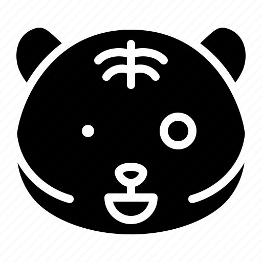 'Tiger emoticon 2 (solid)' by icon stall