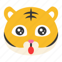 animal, avatar, emoji, surprise, tiger, wild, wow
