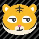avatar, emoji, smirk, smirking, tiger icon